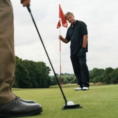 Men playing golf - sport - health and fitness - my sheen village