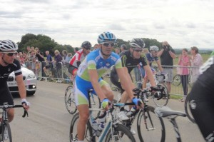 The cyclists at the back of the pack