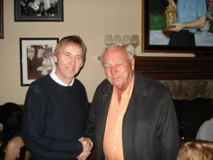David Bown with Arnold Palmer