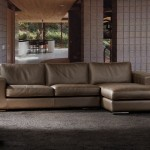 Chocolate brown leather sofa