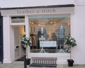 My Sheen Village - Shopping in Richmond - Feather and Stitch - shop front