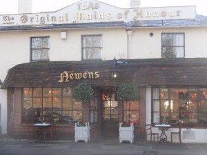 My Sheen Village - Kew Shops - Maids of Honour - exterior front of teashop