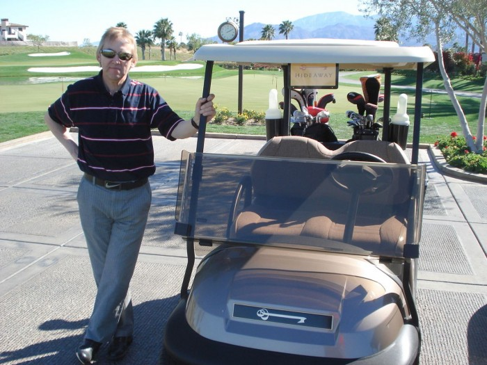 My Sheen Village - Sport - Golf - David Bown - waiting to tee off at Hideaway.