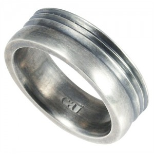 Mens oxidised silver band - gift ideas for men - my sheen village
