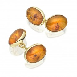 My Sheen Village - Local News and Information - St Valentine's Day - Gifts for Men - Susan Clarke - Gold and Amber Cufflinks