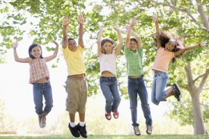 Kids jumping - School's out for Summer - kids education - just kids - My Sheen Village